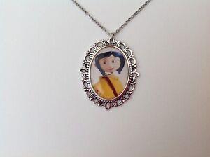 Coraline silver necklace rockabilly retro vintage Tim Burton gothic psychobilly
