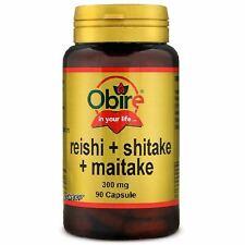 OBIRE: REISHI+SHITAKE+MAITAKE 90 CAPSULE FUNGHI DEL BENESSERE PSICO FISICO