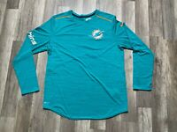 Auth Nike Mens NFL Miami Dolphins Logo Minh Luu Game Issued Teal L/S Shirt L