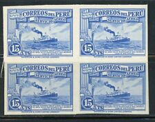 Peru Scott C19 Waterlow Plate Proof Block of Four MNH