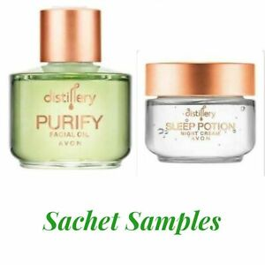 Avon Distillery VEGAN Night Cream (Sleep Potion) & Facial Oil (Purify) Samples