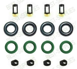 Fuel Injector repair kit For 2005-2019 Nissan Frontier 2.5L orings filters Caps