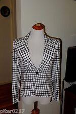 $3,295 Authentic NWT Ralph Lauren Collection White/Black Plaid Jacket, Size 2