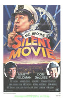 SILENT MOVIE MOVIE POSTER Original 1976 Folded 27x41 One Sheet MEL BROOKS COMEDY