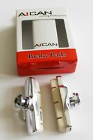 Aican Campy Campagnolo brake pads shoes insert holder White, 1 pair vs Kool stop