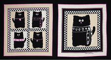 "Cat Smudgy Cat Kitty Cat Cotton Fabric Benartex 6580 Pink Tan - 24""X44"" PANEL"