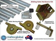 Sliding Gate Hardware Accessories Kit*6m Track*88mm Wheels*Installation*Fence