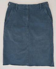 MARTIN MARGIELA MM6 Brushed cotton straight skirt sz 38  4 blue