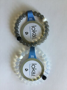 LOT OF 2 Lokai Bracelets Mud from Dead Sea MEDIUM LARGE SMALL Clear Silicone