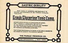 1912 Original Antique Purdue Frederick Grays Glycerine Drug Medicine Print Ad