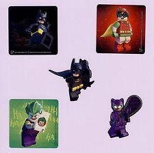 15 Lego Batman Shaped - Large Stickers - Party Favors - Robin, Cat Woman, Joker