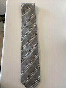 Banana Republic Grey 100% Silk Tie