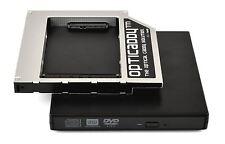 Opticaddy SATA-3 HDD/SSD Caddy+carcasa DVD Toshiba Tecra A10 A11 M10 M11 R850