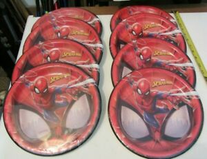 Lot (8) 8-pack Paper Plates Party Pack - Spider-Man Marvel = 64 units!