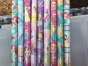 PRINCESS MERMAID CHRISTMAS ALL OCCATION GIFT WRAP 20 SQ FEET MANY TO CHOOSE FROM