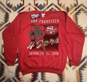 San Francisco 49ers Vintage Crewneck Sweater Men's Size M New Old Stock
