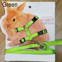 Pet Rabbit Soft Harness Leash Adjustable Bunny Traction Rope Walking durable