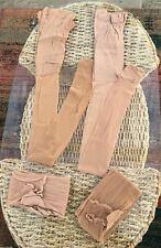 2866e1c0fb9 4 Pairs BHS Italian Design Natural Tan 10 Denier Open Toe Tights