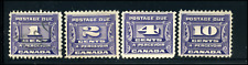 Canada #J11-J14 used F/F-VF 1933-1934 Third Postage Due Issue Set CV$22.10