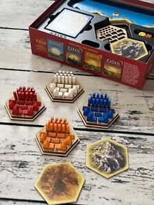 New Settlers of Catan Game Piece Holders, Set Of 6 Fits In Original Game Box