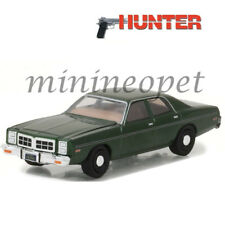 GREENLIGHT 44780 C HUNTER TV SHOW 1978 DODGE MONACO POLICE CAR 1/64 GREEN