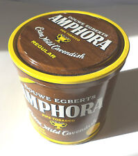 "Douwe Egberts AMPHORA Extra Mild Cavendish ""Brown"" Pipe Tobacco Tin 12 OZ."
