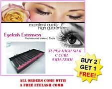 SUPER HIGH SILK 0.20 C Mixed Length Silk Lash Individual Eyelash Extensions