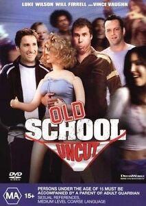 """OLD SCHOOL DVD """" Uncut """" Will Ferrell Luke Wilson Funny Movie - REGION 4 AUSTRAL"""