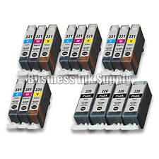 16+ PACK PGI-220 CLI-221 Ink Tank for Canon Printer Pixma iP3600 iP4600 NEW