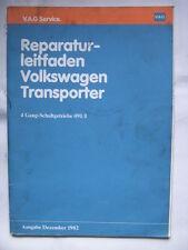 VW Bus+Joker T2 T3 Reparaturanleitung 4-Gang Getriebe+Kupplung Werkstatthandbuch