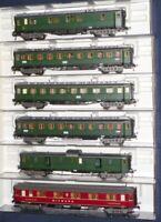 Fleischmann 5078-5080,5082, 5083 Konvolut 6x Eilzug-Schnellzugwagen DRG Epoche 2