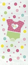 20 Baby Girl Suit Cellophane Bags Baby Shower Party Cello Bag Pink Sweet Gift