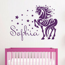 Wall Decals Personalized Name Horse Decal Girl Nursery Room Decor Sticker MR704
