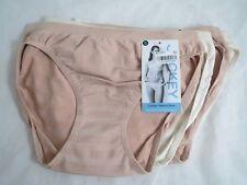 Jockey comfies matte & shine set/4 bikini beige/nude panties, sz 5, NWT