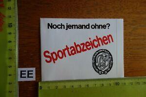 Alter Aufkleber Sport DSB Deutscher SportBund Noch jemand ohne Sportabzeichen?