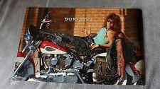 Jon Bon Jovi 1989 Harley Davidson Motorcycle Leather Chaps SOLO Funky Poster EX