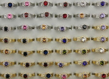 Wholesale Mixed Lots 50pcs Wedding Ring Cubic Zirconia Copper Adjustable Rings