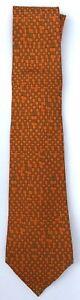 Rare, Vintage Silk HERMES Tie  Geometric Print 7679 TA