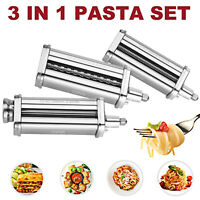 For KitchenAid Pasta Roller Cutter Maker Kit 3-piece Stand Mixer Attachment Set
