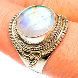 Rainbow Moonstone 925 Sterling Silver Ring Size 9.25 Ana Co Jewelry R77136F