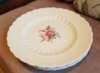 """Spode BILLINGSLEY ROSE 7 7/8"""" Salad Plates Green Backstamp Set of 3 + pink stamp"""