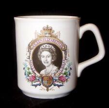 Vintage Silver Jubilee Commemorative Cup / Mug - Queen Elizabeth II C&E England