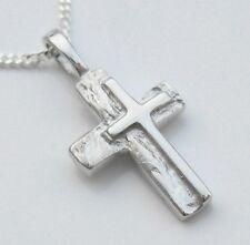 Kreuz Anhänger Männer Kinder Herren Echt Silber Schmuck mit Hals Kette neu 925