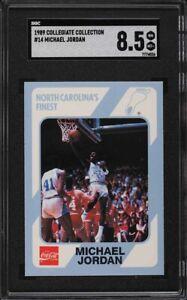 1989 Collegiate Collection North Carolina Michael Jordan #14 SGC 8.5 NM-MT+