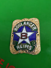 N.O.S plaque emaillée velo E.BOULANGER a REIMS old french vintage bike motobecan