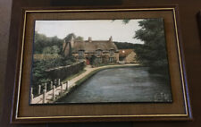 Kevin Platt Print On Wood Of Thornton Le Dale 30 Cm By 20 Cm Framed
