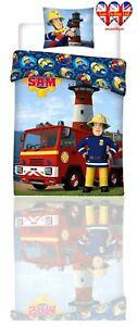 Kids Duvet Set,Fireman Sam,TODDLER Bed Duvet Cover Set,Official Licensed140X100