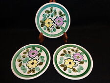 "Boch Belgium IN THE MOOD 8 1/4"" SALAD DESSERT PLATES Lot x 3 Handpainted Floral"
