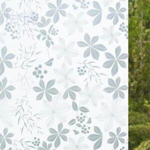 Pellicola Privacy effetto fiori per Finestre Vetri Autoadesive Anti-UV Calore