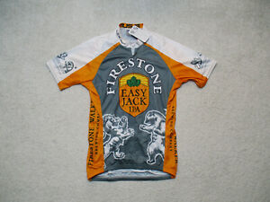 Voler Cycling Jersey Mens Small Firestone Walker Easy Jack 1/4 Zip Gray Orange